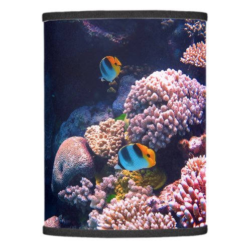 Colorful Tropical Coral Reef Lamp Shade