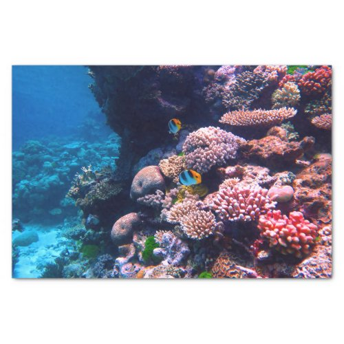 Colorful Tropical Coral Reef Tissue Paper