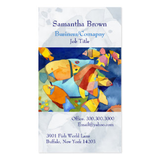 Colorful Tropical Fish Aquarium Business Cards