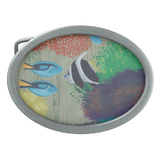 Colorful Tropical Fish Belt Buckles