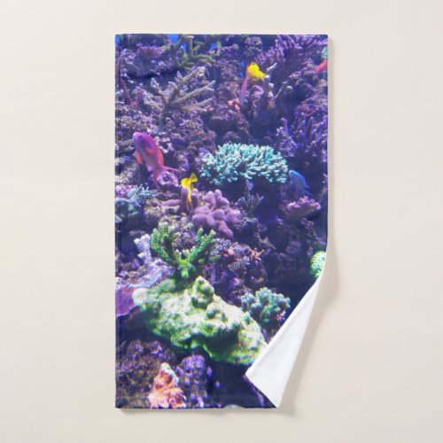 Colorful Tropical Fish Coral Reef Hand Towel