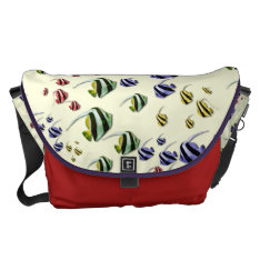 Colorful Tropical Fish Large Messenger Courier Bag at Zazzle