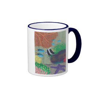 Colorful Tropical fish painting Mugs