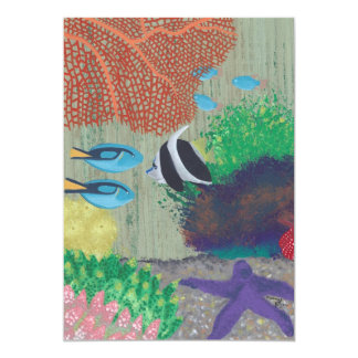 Colorful Tropical Fish Party Invitations