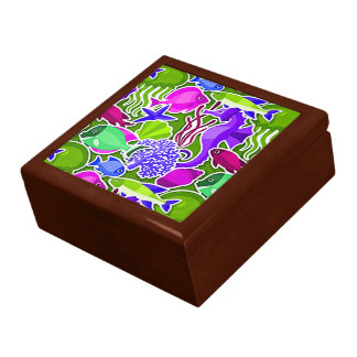 Colorful Tropical Fish Pattern 2 Gift Box