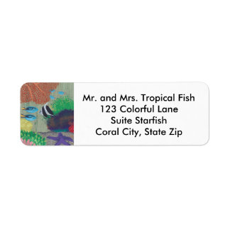 Colorful Tropical Fish Starfish Address Labels
