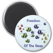 Colorful Tropical Fish Swimming Free Magnet at Zazzle