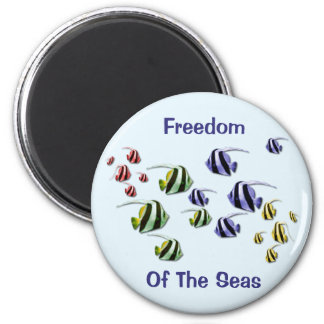 Colorful Tropical Fish Swimming Free Magnet