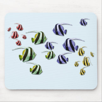 Colorful Tropical Fish Swimming Free Mousepad