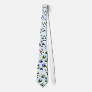Colorful Tropical Fish Swimming Free Tie
