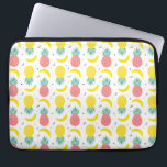 "Colorful Tropical Fruit Pattern Laptop Sleeve<br><div class=""desc"">Colorful summer pattern with fruits,  bananas,  watermelon and geometric shapes in a memphis style background. 