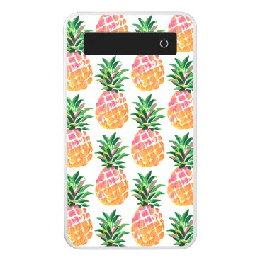 Beach Themed Colorful Tropical Hawaiian Pineapple Power Bank