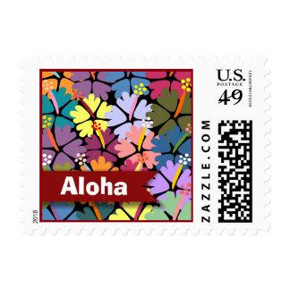 Colorful Tropical Hibiscus Aloha Postage