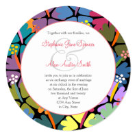 Colorful Tropical Hibiscus Wedding Invitations