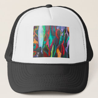 Colorful Tropical Jungle (abstract landscape) Trucker Hat