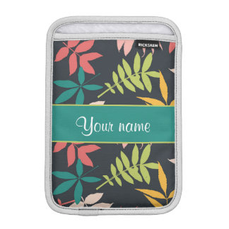 Colorful Tropical Leaves Sleeve For iPad Mini