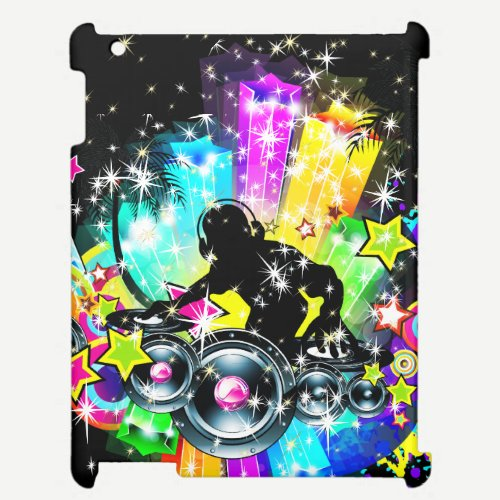 Colorful Tropical Music DJ & Sparkles iPad Case