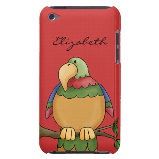 Colorful Tropical Parrot Bird On Tree Branch Case-Mate iPod Touch Case