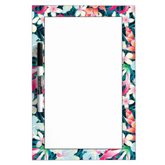 Colorful Tropical Pattern Dry Erase Board