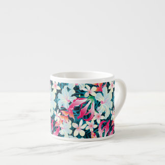Colorful Tropical Pattern Espresso Cup