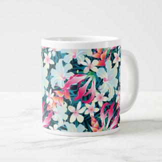 Colorful Tropical Pattern Large Coffee Mug