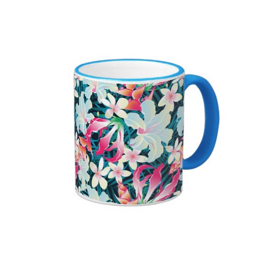 Colorful Tropical Pattern Mugs