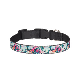 Colorful Tropical Pattern Pet Collar
