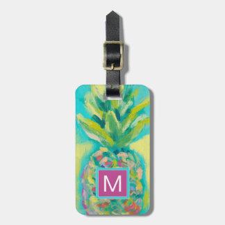 Colorful Tropical Pineapple Bag Tag