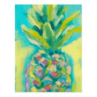 Colorful Tropical Pineapple Postcard