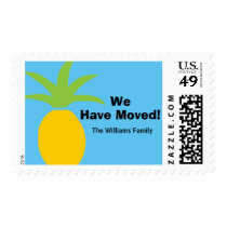 Colorful Tropical Pineapple We Have Moved Custom Postage