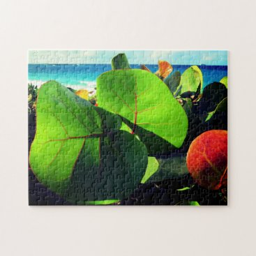 Beach Themed Colorful Tropical Relaxation Jigsaw Puzzle