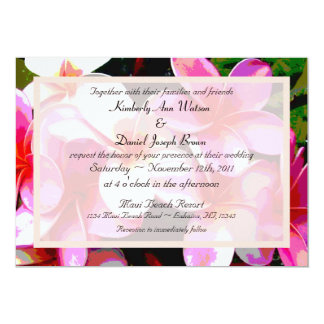 Colorful Tropical Wedding Invitation