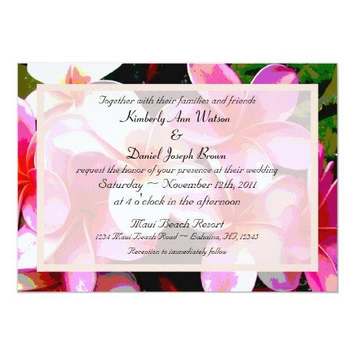 Colorful Tropical Wedding Invitation