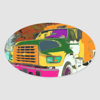 Colorful truck sticker