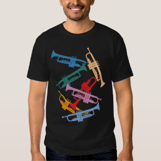 Colorful Trumpets T-shirts