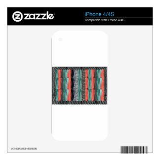 Colorful tshirts color patterns template add TEXT iPhone 4 Decals