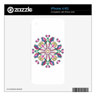 Colorful Tulip Circle - iPhone 4S Decal
