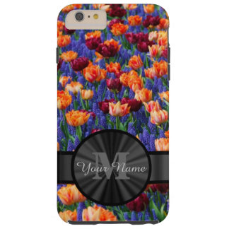 Colorful Tulip field monogrammed Tough iPhone 6 Plus Case