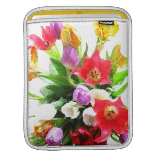 Colorful Tulip Flowers iPad Sleeve