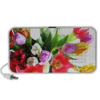Colorful Tulip Flowers iPhone Speaker
