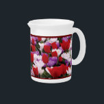 """Colorful Tulip Flowers Pitcher<br><div class=""""desc"""">Complement your dining room or kitchen and freshen up your table&#39;s look with this decorative and functional pitcher. An elegant way to serve water, milk, juice or iced tea at any meal or use it to hold utensils, brushes, or a bouquet on the table. Ideal for both indoor and outdoor...</div>"""