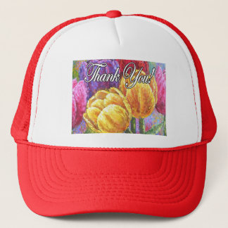 Colorful Tulip Flowers Thank You Items - Multi Trucker Hat