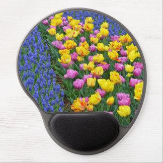 Colorful tulip garden gel mousepd gel mouse pad