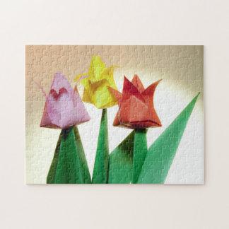 Colorful Tulip Origami Flowers Puzzle