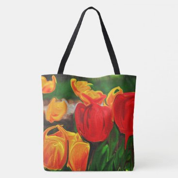 Beach Themed Colorful Tulip Tote Bag
