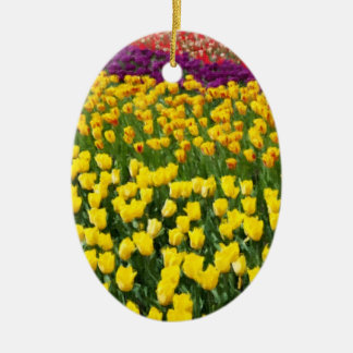Colorful Tulips 2 Ceramic Ornament