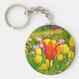 Colorful Tulips_321_B_R2 Keychain