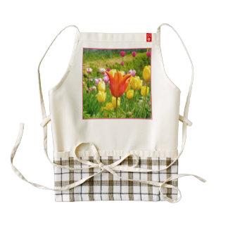 Colorful Tulips_321_B_R2 Zazzle HEART Apron