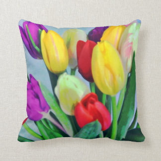 Colorful Tulips American MoJo Pillow