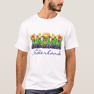 Colorful Tulips Customizable T-Shirt